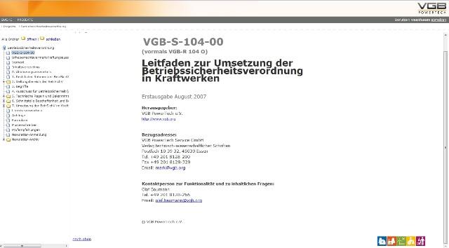 Leitfaden zur Umsetzung der Betriebssicherheitsverordnung in Kraftwerken (Online-Produkt, Netzwerklizenz)