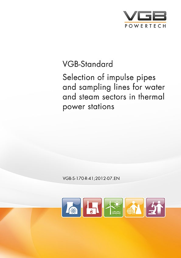Selection of impulse pipes and sampling lines for water and steam sectors in thermal power stations