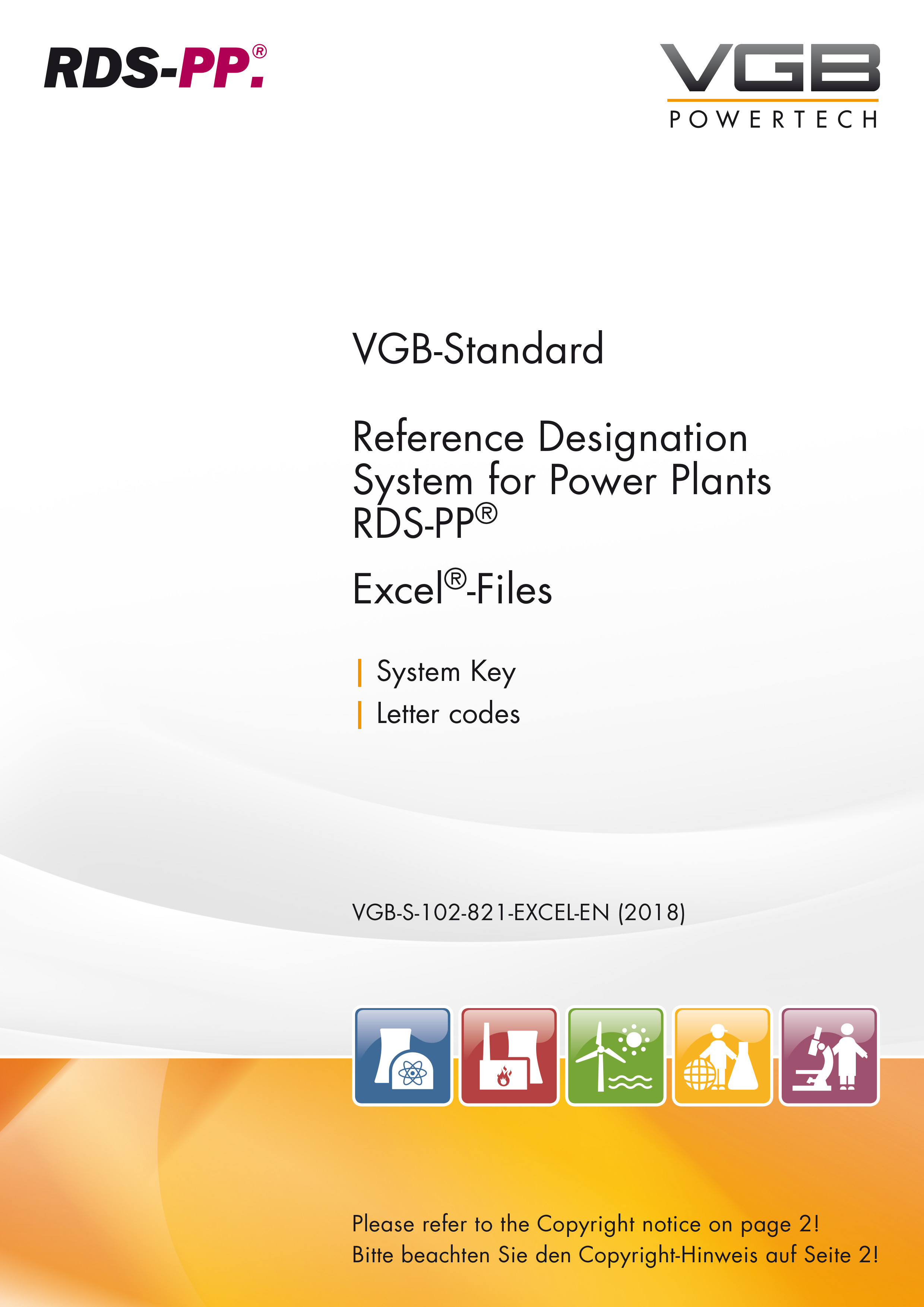 RDS-PP®  Reference Designation System for Power Plants - Letter Code for Power Plant Systems (System Key) - Excel-table