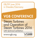 "VGB Conference ""Steam Turbines and Operation of Steam Turbines 2016"""