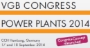 "VGB Congress ""Power Plants 2014"" with technical exhibition"
