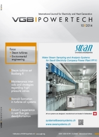 VGB PowerTech Journal 10 (2014): Steam Turbines and Steam Turbine Operation; Environmental Engineering: Flue Gas Cleaning