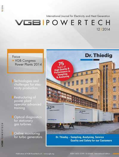 "VGB PowerTech Journal 12 (2014): VGB-Kongress 2014 - ""Technical Leadership to Overcome Economic Challenges"""
